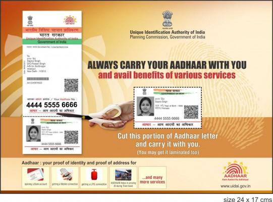 आधार कार्ड जानकारी और उपयोग - Aadhar Card Information in Hindi