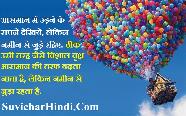 Famous Quotes in Hindi Language - सपने देखिये लेकिन