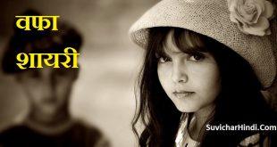 वफा पर शायरी - Wafa Shayari in Hindi font image 2 line status lines quotes