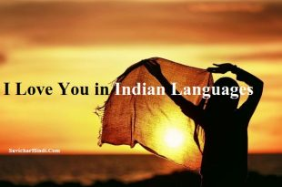 I Love You विभिन्न भारतीय भाषाओँ में - I Love You in Different Indian Language in Hindi