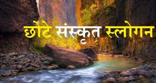 छोटे संस्कृत स्लोगन - Slogan in Sanskrit With Meaning in Hindi
