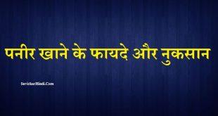 पनीर खाने के फायदे और नुकसान - Paneer Khane Ke Fayde and Nuksan in Hindi
