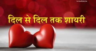 दिल से दिल तक शायरी - Dil Se Dil Tak Shayari in Hindi Quotes Status Poem Apne Paraye