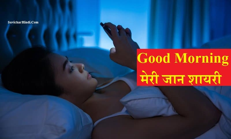 Good Morning  मेरी जान शायरी - Good Morning Meri Jaan Shayari in Hindi Quotes Status