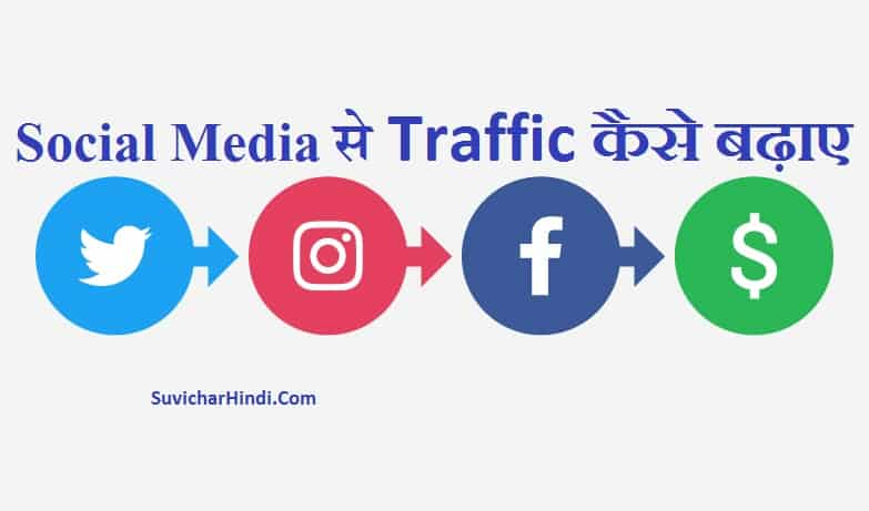 Social Media से ट्रैफिक कैसे बढ़ाए - Social Media Se Blog Ka Traffic Badhane Ke Tarike